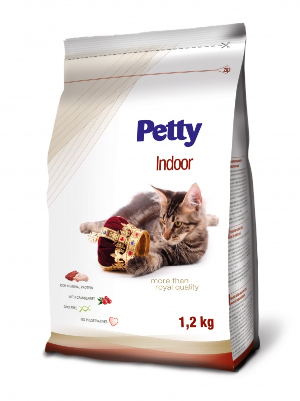 PETTY Indoor s brusinkami 1,2kg