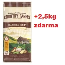 COUNTRY FARMS dog adult grain free čerstvé kuře 11kg+2,5kg