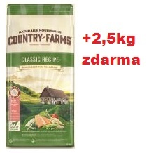 COUNTRY FARMS adult dog classic s lososem 12kg+2,5kg