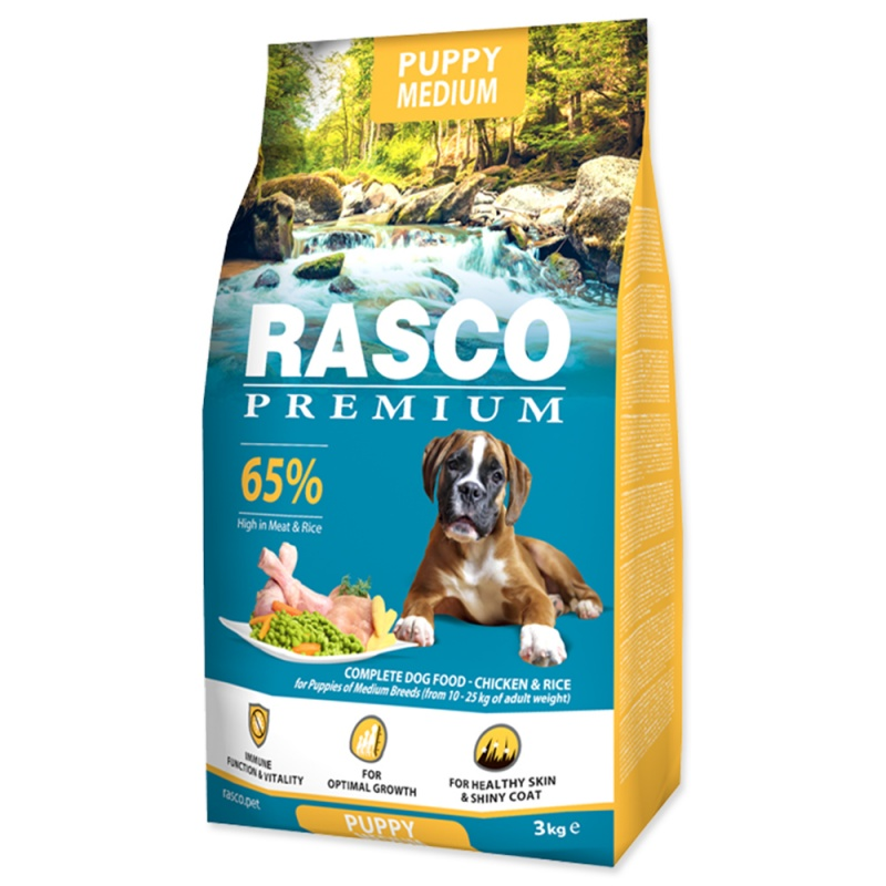 RASCO Premium Puppy/Junior Medium 3kg
