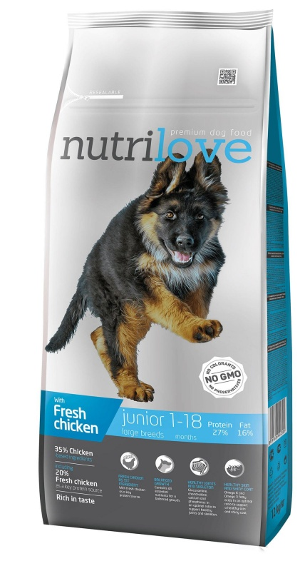 NUTRILOVE Dog Junior Large 12kg