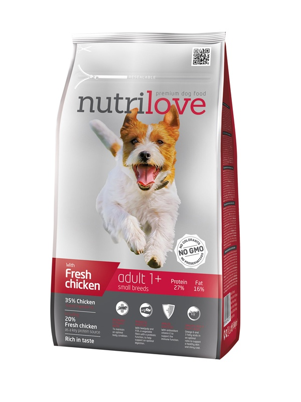 NUTRILOVE Dog Adult Small 1,6kg