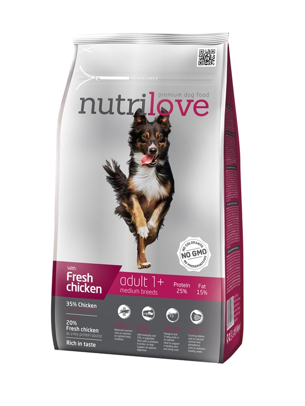 NUTRILOVE Dog Adult Medium 1,6kg