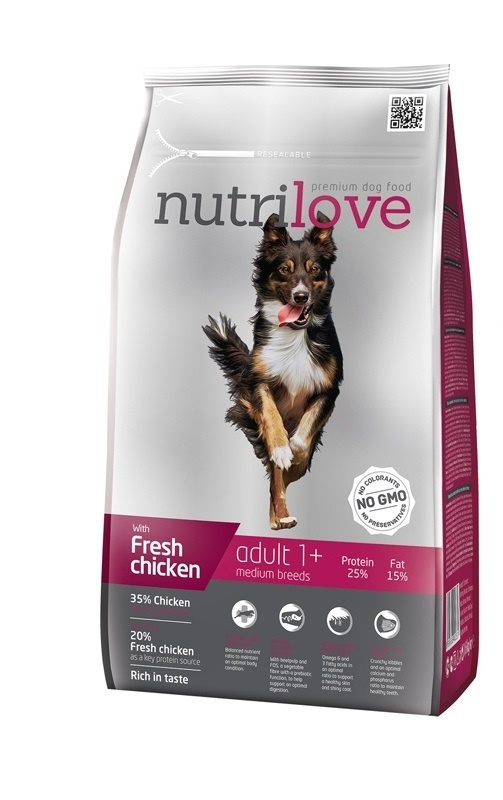 NUTRILOVE Dog Adult Medium 8kg