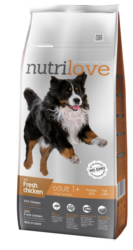 NUTRILOVE Dog Adult Large 12kg