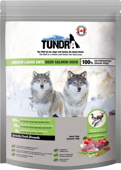 Tundra Dog Deer,Duck,Sal,Grizzly 750g