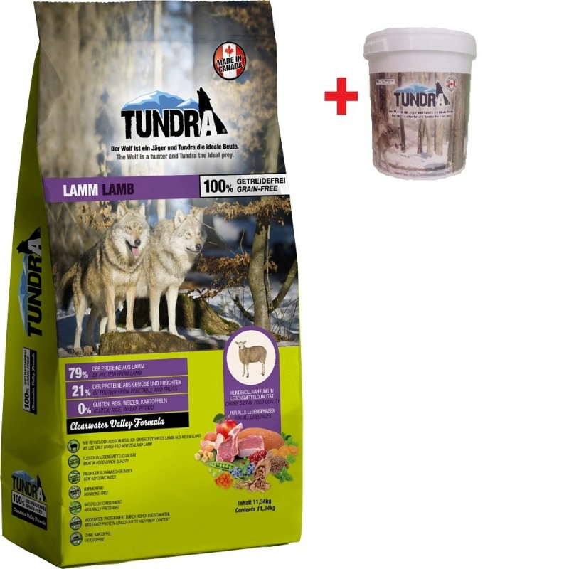 Tundra Dog Lamb Valley Formula 11,34 Kg + BAREL