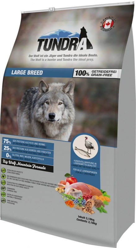 Tundra Dog Large Breed Big Wolf Mountain Formula 3,18 kg