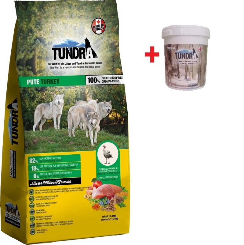 Tundra Dog Turkey Alberta Wildwood Formula 11,34 kg + BAREL