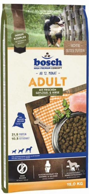 Bosch Adult 15kg +5x PEDIGREE DENTA TwiceWeekly