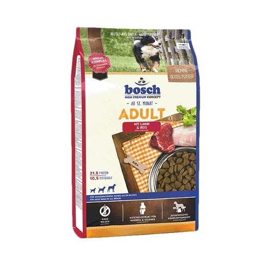 BOSCH Adult Lamb & Rice / jehněčí 15kg NEW