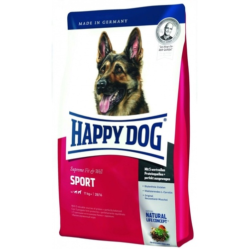HAPPY DOG SUPREME ADULT SPORT 15kg +5x PEDIGREE DENTA TwiceWeekly