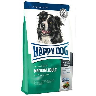 Happy Dog Fit & Well Adult Medium 12,5kg +5x PEDIGREE DENTA TwiceWeekly