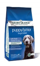 ARDEN GRANGE Puppy/Junior Large Breed Chicken/Rice 12kg