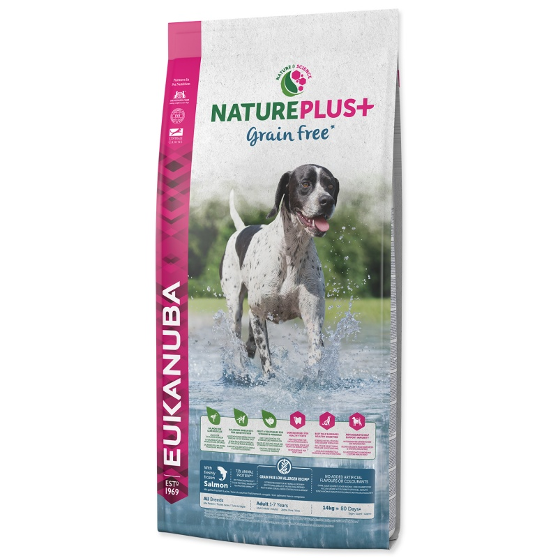 EUKANUBA Nature Plus Adult Salmon 14kg