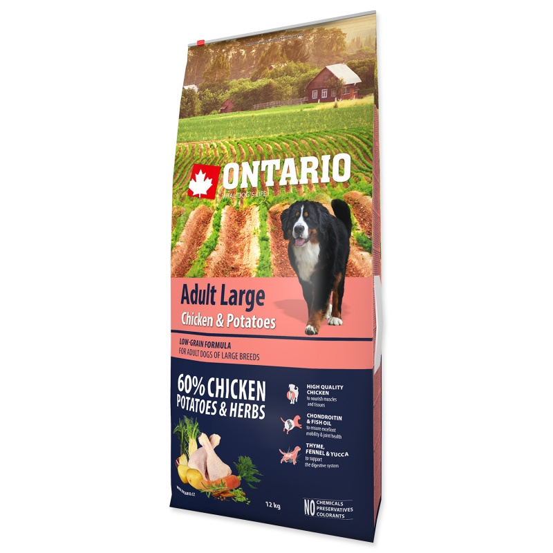ONTARIO Adult Large Chicken/Potatoes 12kg