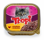 TROPI Cat Kuřecí paté 100g/10ks +60g Plaisir Treats